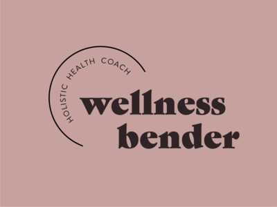 Option 3 for Wellness Bender coach healthcoach health organic natural logo logotype design typography branding