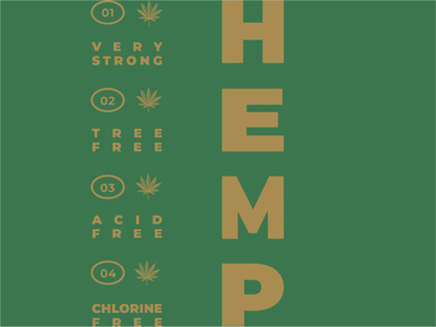 Hemp Promo logotype logo typography design branding hemp logo hemp oil hemp