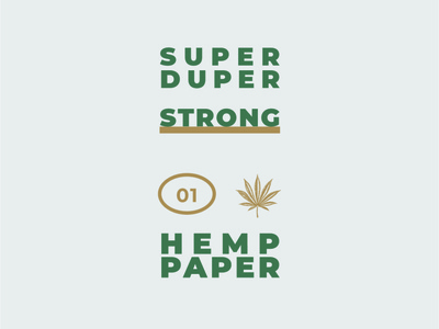 Hemp Paper Strong hemp logo hemp oil hemp logotype logo typography design branding