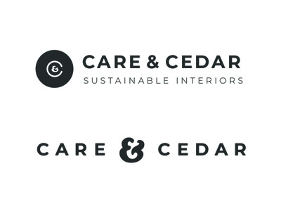 Care & Cedar Branding furniture furniture design home furnishing sustainability sustainable logotype logo branding typography design