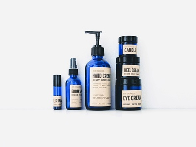 Eve Organics Reduced Packaging indigo reduce recycled natural blue oraganic cream lotions cosmetic package design packaging branding typography
