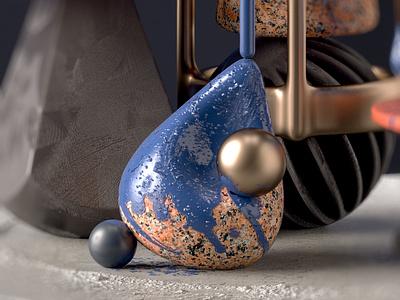Compositions D1 abstract art digital art rendering render photorealism otoy octane hanneshummel cinema4d 3d artist 3d