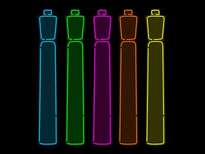 Neon Highlighters neon highlighters msced dschwen