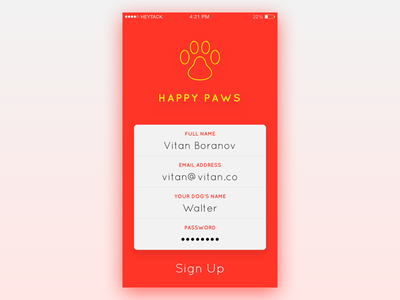 Daily UI - Day 1: Sign Up iphone ios form login signup dailyui