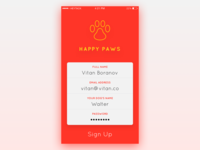 Daily UI - Day 1: Sign Up