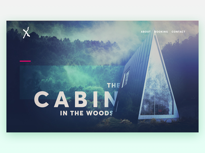 Daily UI - Day 3: Landing Page landing page woods cabin website dailyui