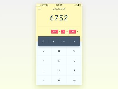 Daily UI - Day 4: Calculator iphone ios calculator dailyui