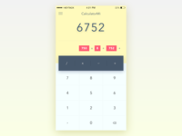 Daily UI - Day 4: Calculator