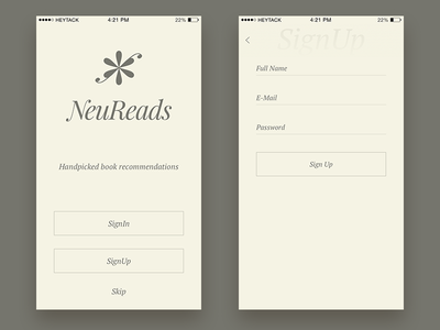 NeuReads - Book Recommendations App recommendations book app ios