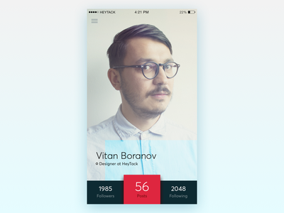 Daily UI - Day 6: User Profile iphone ios profile user dailyui