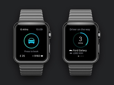 Addison Lee - Apple Watch App ui cab taxi addison lee app apple watch