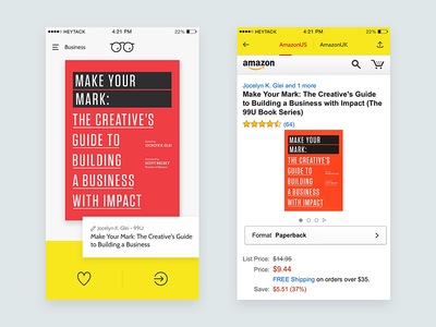 NeuReads App ui browse ios app book iphone