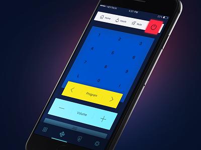 SmartTV Remote Control App Concept remote control lg ui iphone app smarttv