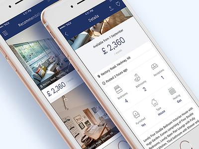 Estate Agent App ui iphone app agent estate