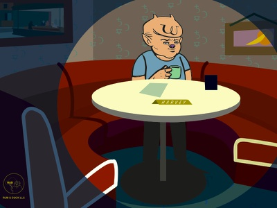 """HELLTONIGHT with Harvey"" season 1 on YouTube!!! helltonight rum and duck entertainment harvey comedy talk show animation cartoon"