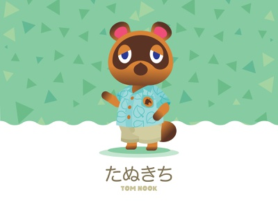 Tom Nook nintendoswitch game art flat character illustration vector animalcrossing