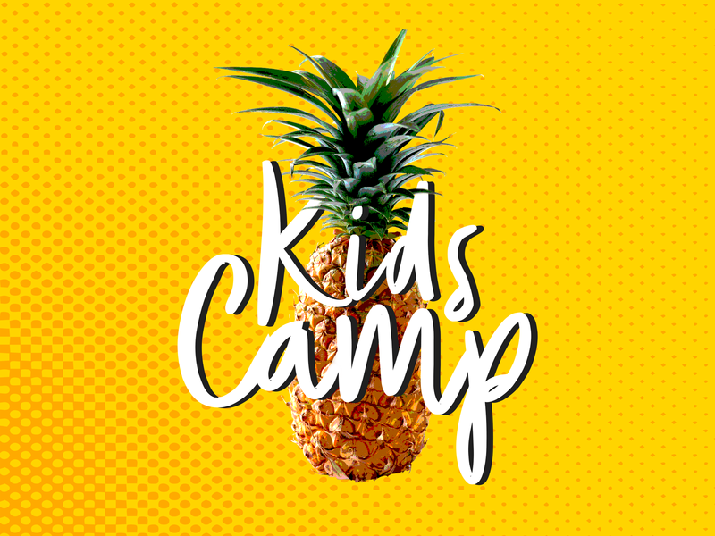Kids Camp - 2018 illustrator identity minimal flat type website typography logo lettering illustration icon design branding