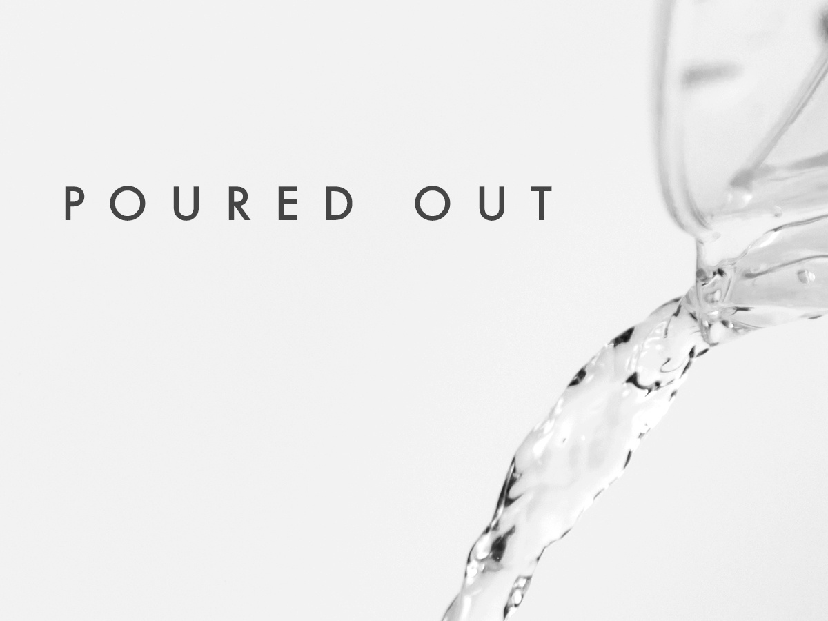Poured Out identity flat type minimal illustrator website typography logo lettering illustration icon design branding