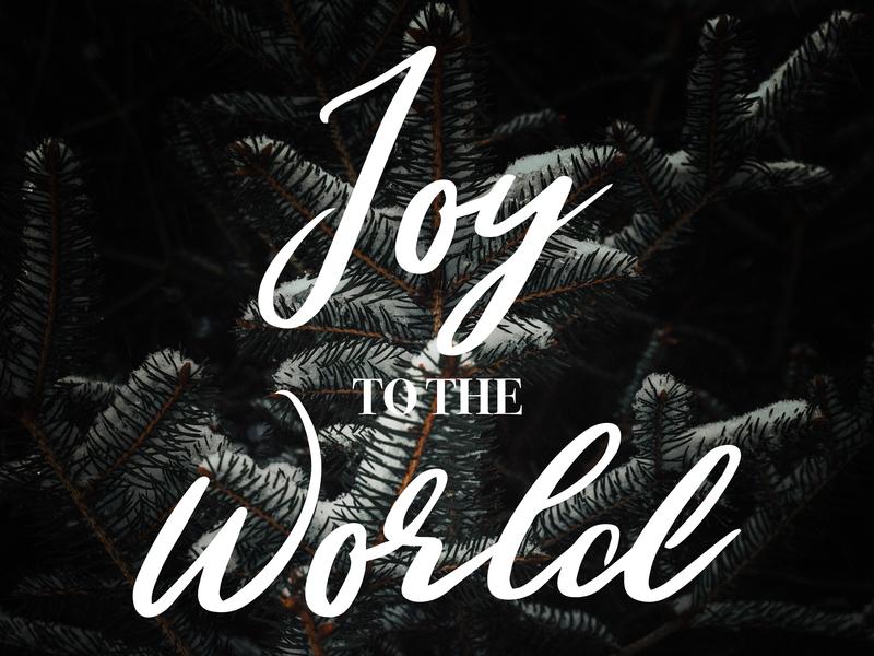 Joy To The World - Christmas Graphic clean flat type minimal illustrator typography logo lettering illustration icon design branding