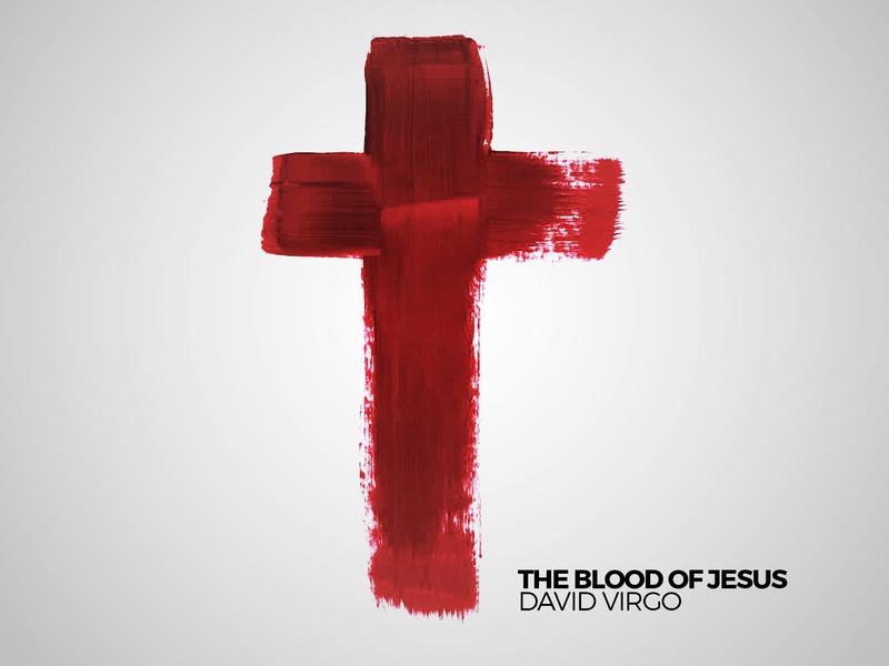 The Blood of Jesus - David Virgo (Single) logo character mobile identity clean flat type minimal illustrator icon typography lettering illustration design branding
