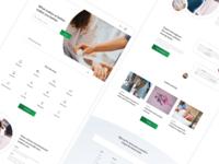Medical center website hospital health care healthcare health medical website clean design