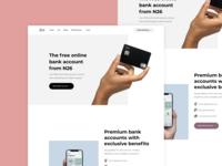N26 Redesign fintech landing page design uidesign ui landing page banking