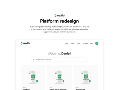 Platform redesign startup saas product-on-demand dashboard clean ecommerce products