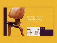 Furniture landing page colorful