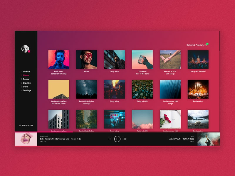 Dashboard design ui uidesign music app dasuboard spotify music