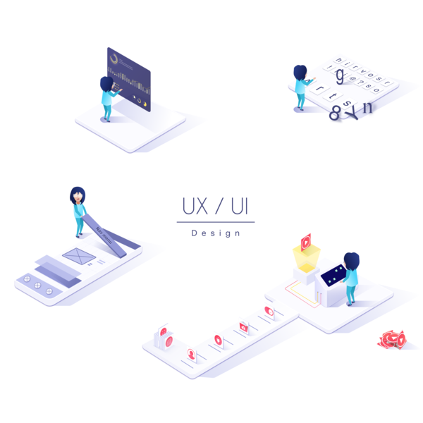 Ux Ui Design user interface design user experience user center design vector icon logo typography charts design ux ui illustration