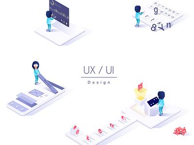 Ux Ui Design user interface design user experience user center design vector icon logo typography charts design ux ui illustration