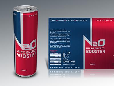 N20: Nitro Energy Booster Packaging branding