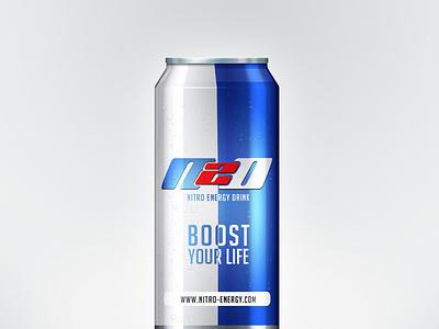 N20: Nitro Energy Drink (Alt 2) design branding