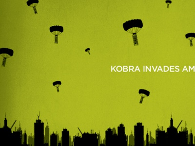 Kobra Invades America design branding
