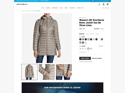 Eddie Bauer: Product UI/UX (1) web branding design