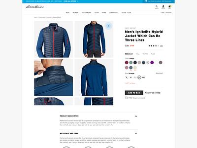 Eddie Bauer: Product UI/UX (2) web design branding