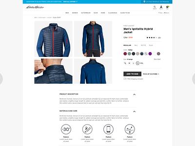 Eddie Bauer: Product UI/UX (4) web design branding