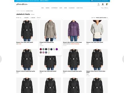 Eddie Bauer: Category UI/UX (1) web design branding