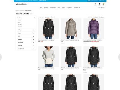 Eddie Bauer: Category UI/UX (2) ux ui web design branding