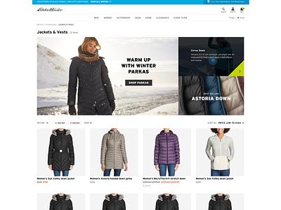 Eddie Bauer: Category UI/UX (3) ux ui web design branding
