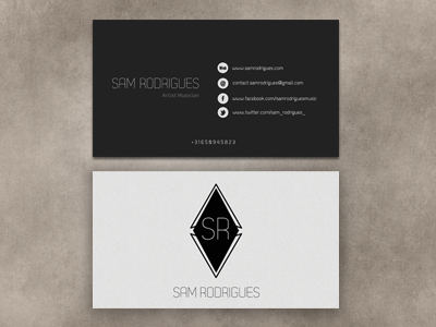 Musician business card by hana belaidi dribbble colourmoves