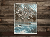 Edward Sharpe Dallas Show Poster by Rural Rooster