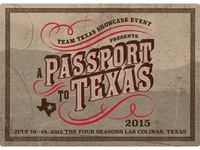 Passport To Texas Logo Postcard