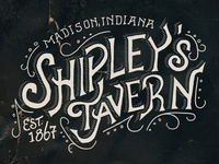 Shipley's Tavern Lettering