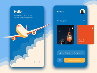 Travel App @ application @travel illustration webdesign uiux interaction minimalist sketchapp design
