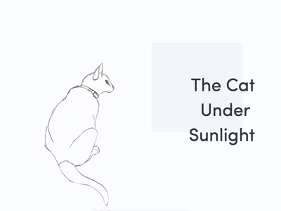 The cat chilling under the sun aftereffects animations sketching cats illustration interaction design