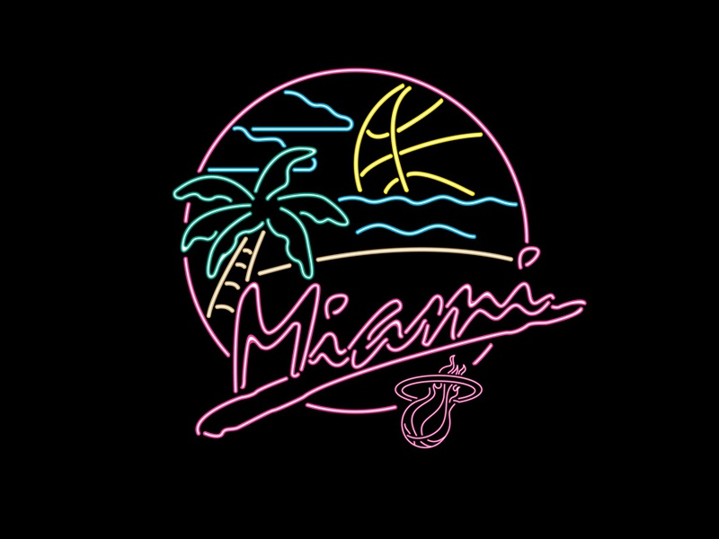Miami Heat Beach Party by Tom Philibeck - Dribbble