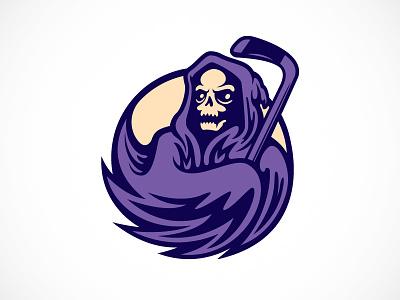 Mort De Montreal Logo logo reaper death hockey identity illustration montreal mort grim reaper hockey logo mort de montreal tom philibeck