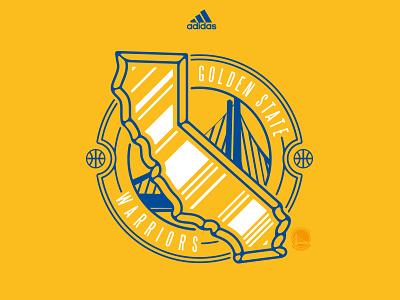Warriors Seal tom philibeck shirt design golden state adidas nba lockup seal california warriors