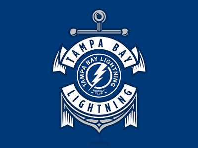 Anchors Up banner tom philibeck tampa bay nautical anchor florida hockey lightning reebok nhl